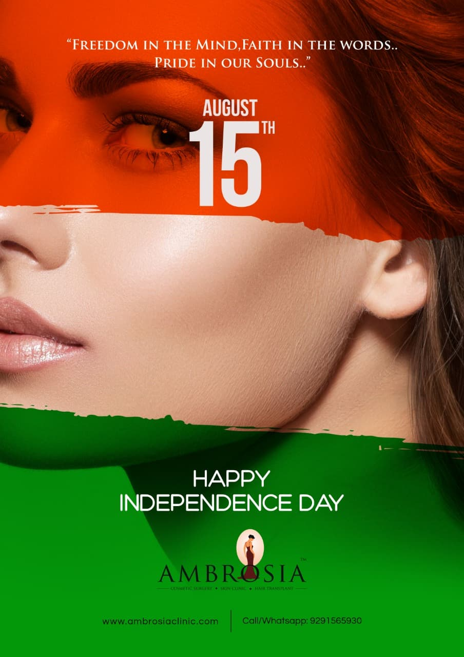 Dr Priti Shukla & Staff Of Ambrosia Clinic Wishes You Happy Independence Day