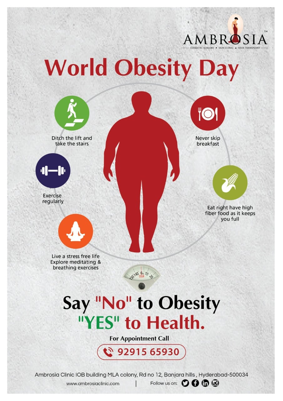 """World Obesity Day, Say """"No"""" To Obesity """"Yes"""" To Health"""