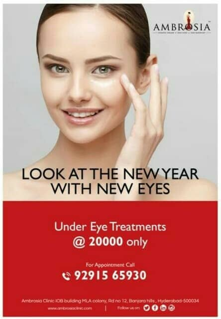 Look at the New year with new eyes.. Avail under eye treatments@ 20k only