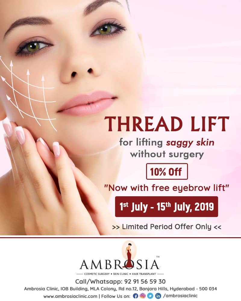 10% Off On THREAD LIFT – Now With FREE Eyebrow Lift